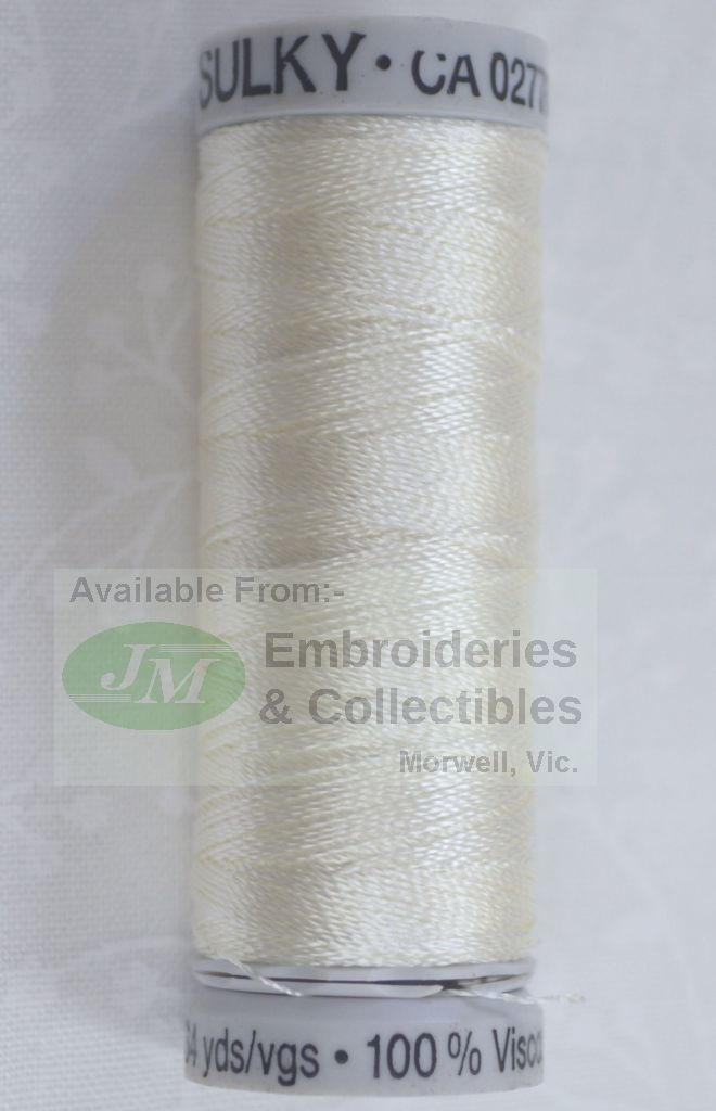Gutermann sulky rayon thread colour white