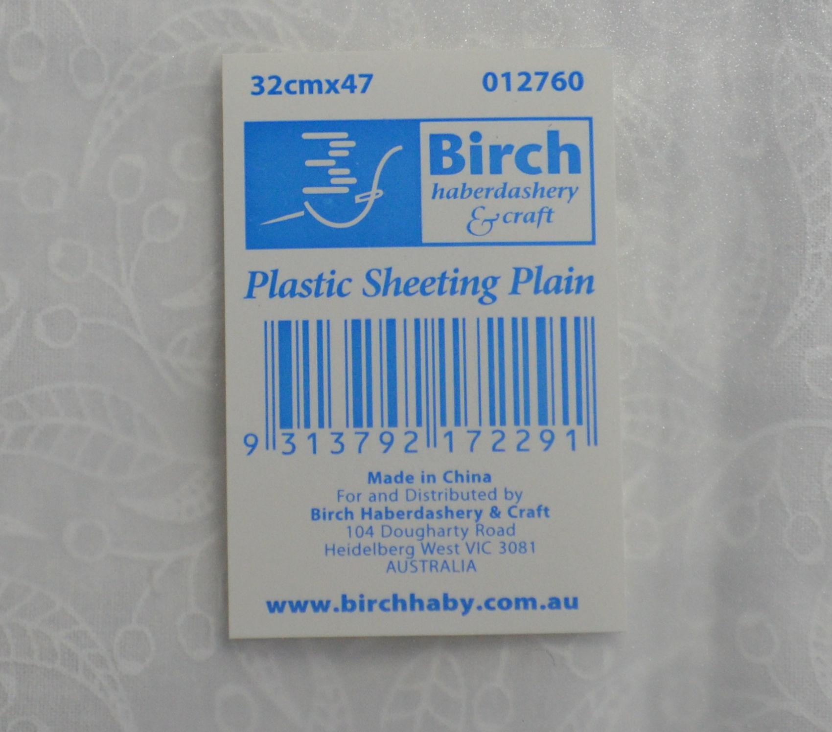 Birch Template Plastic Sheet, Plain 32 x 47cm