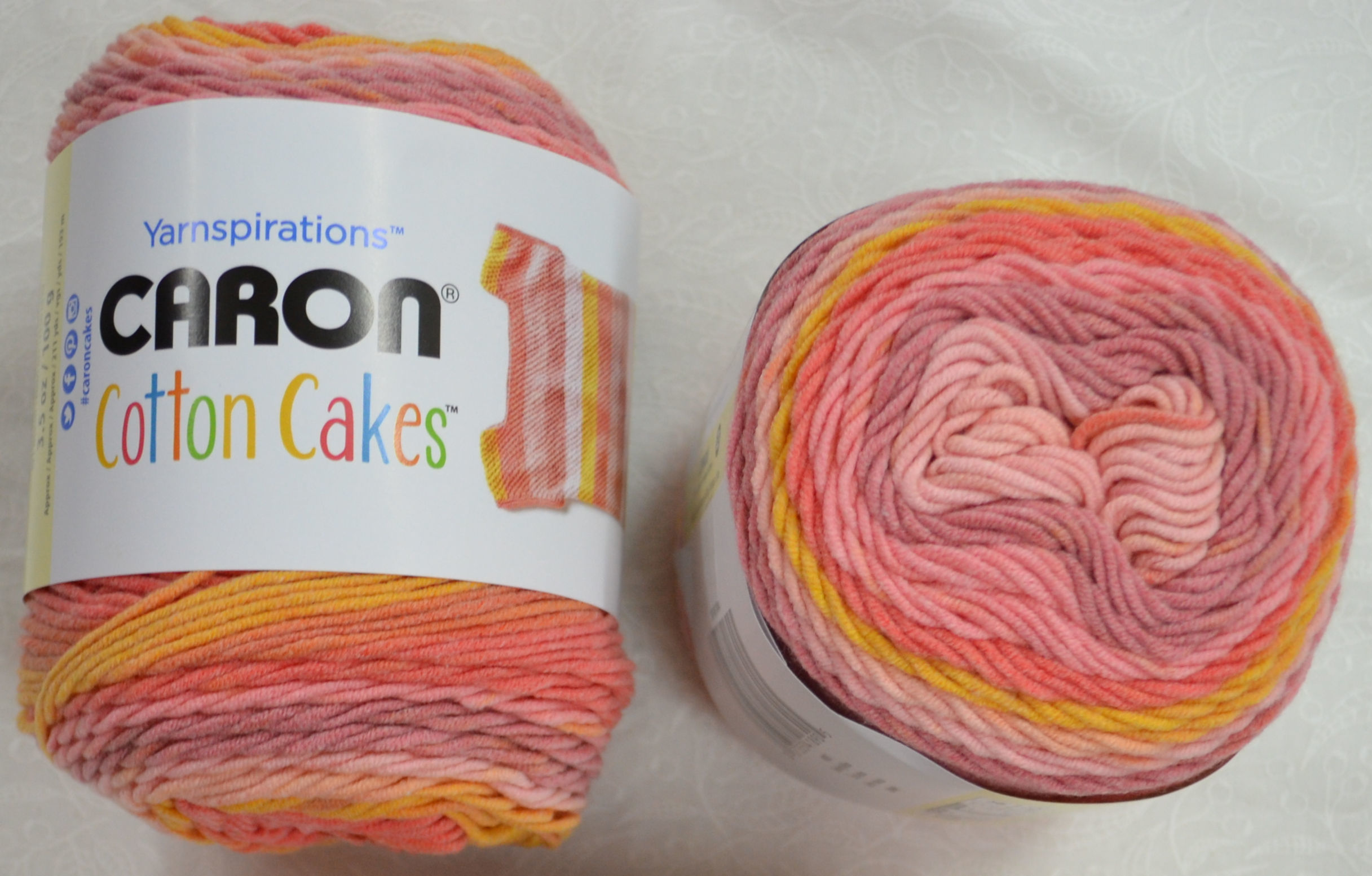 Caron Cotton Cakes, Medium Weight Cotton Blend Yarn, 100g Ball ...