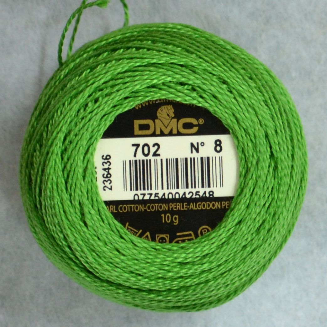 DMC Pearl Cotton Size 5 Color #702 Kelly Green