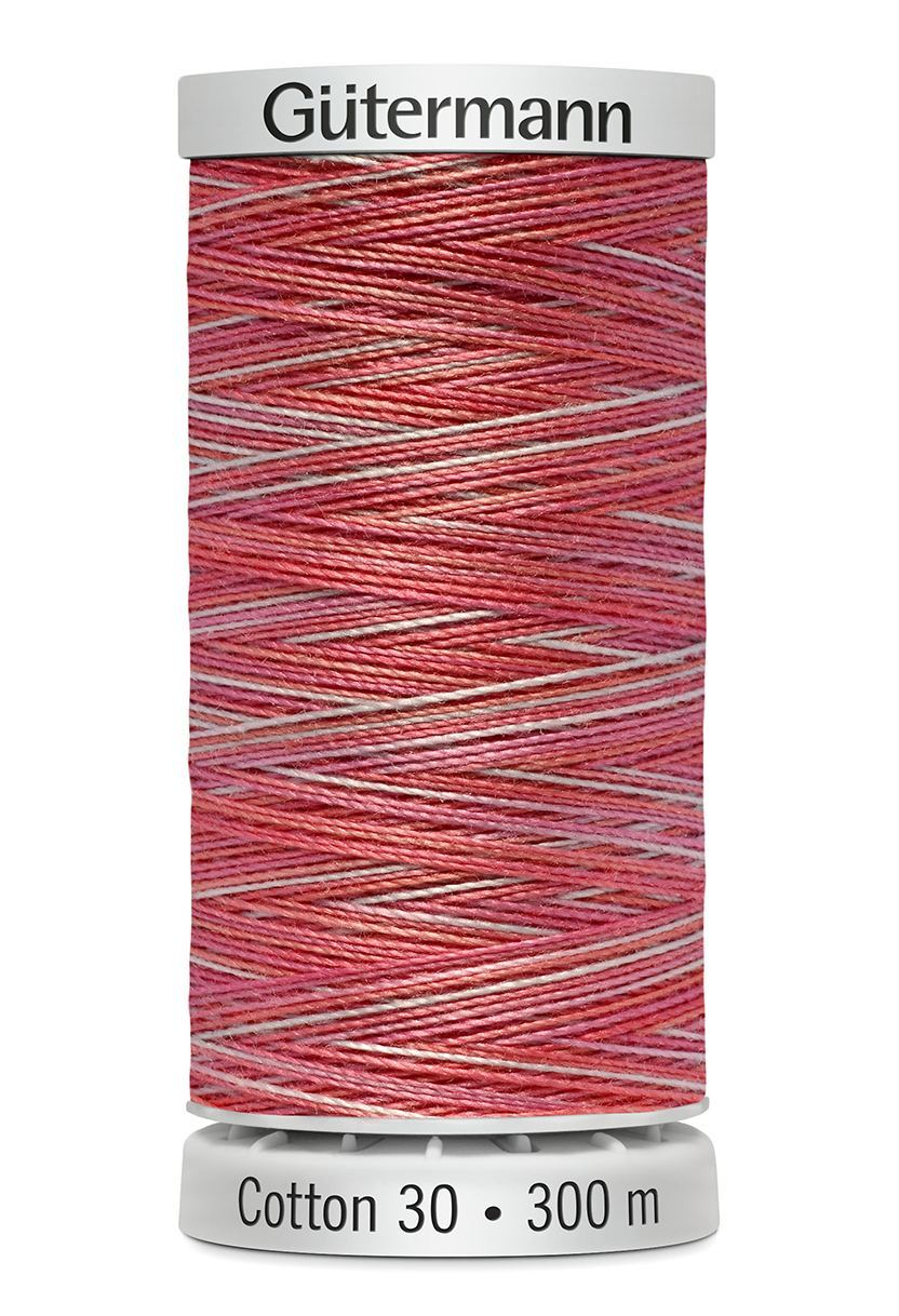 Gutermann sulky cotton colour variegated red