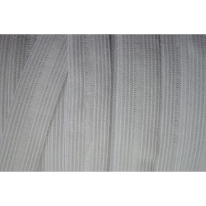 Birch Fitted Sheet Elastic 18mm White, PER METRE