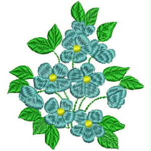 Floral Bouquet Machine Embroidery Design, 80mm x 73mm (010512-floral-bouquet-80)