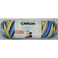 Caron Simply Soft Stripes Yarn Colour MADISON AVENUE, 141g, 215m, Acrylic