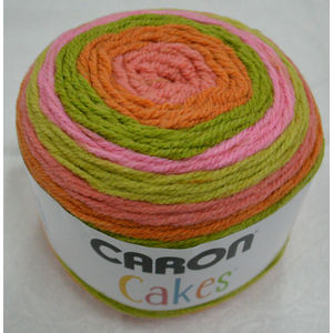Caron Cakes, 200g Premium Soft Yarn, STRAWBERRY KIWI