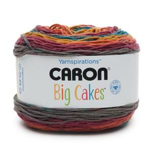 Caron BIG Cake, 300g (Approx. 551m) Premium Soft Acrylic Yarn, TOFFEE BRICKLE