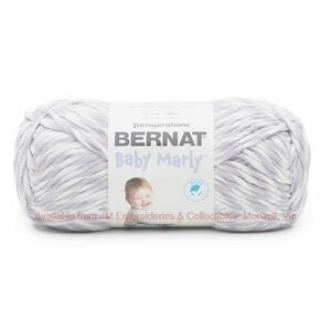 Bernat Baby Marly, SNOW VIOLETS, 300g Bulky, Ultra Soft Flannel Yarn