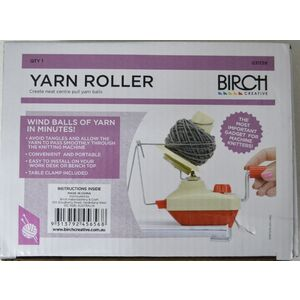 Birch Yarn Roller, Roll Balls Of Yarn In Minutes