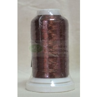 Birch Metallic Embroidery Thread, 1000m Spool, Colour #7723 BRONZE