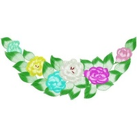 Floral Chairback Machine Embroidery Design, 200 x 426mm, (050314-2chairback-200)