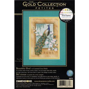 BEAUTIFUL BIRD Counted Cross Stitch Kit 13 x 18cm, 6870