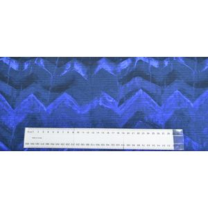 Camelot Cottons Fabric, Ikat Watercolor, 110cm Wide, 1011001.12 BLUE, Priced Per Centimeter