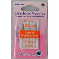 Machine Needles Overlocker Serger TYPE B, Size 80/12