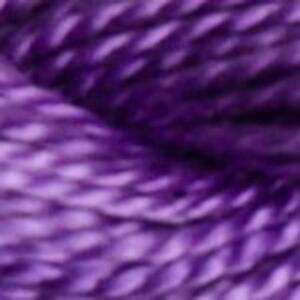 DMC Perle 3 Cotton, 5g 15m Skein, Colour 208, VERY DARK LAVENDER