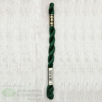 DMC Perle Cotton Thread, Size 5, 25m Skein, Colour 319 VERY DARK PISTACHIO GREEN