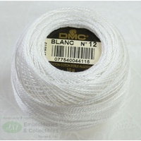 DMC Perle Cotton Ball Size 12, 120m Colour BLANC