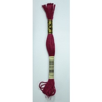 DMC Stranded Cotton Embroidery Floss, Colour 777 Very Dark Raspberry