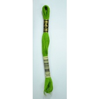 DMC Stranded Cotton Embroidery Floss, Colour 906 Medium Parrot Green