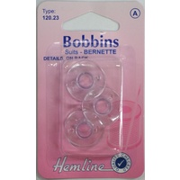 Bobbins, Late Models Brother, Singer, Bernette, Pack of 3 Bobbins (120.23)