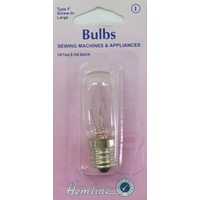 Sewing Machine & Appliance Bulb, SES Screw-In Long, 15W, 240V, Type F