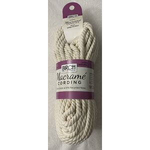 Birch Macrame Cording 4mm NATURAL 228G, 22.86m Skein