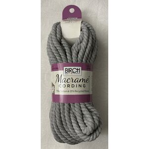 Birch Macrame Cording 6mm GREY 268G, 15.24m Skein