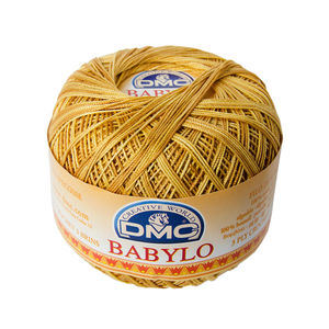 DMC Babylo 10 Crochet Cotton, 50g Ball, Colour 111, Variegated Brown Yellow