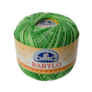 DMC Babylo 10 Crochet Cotton, 50g Ball, 114 Variegated Green White