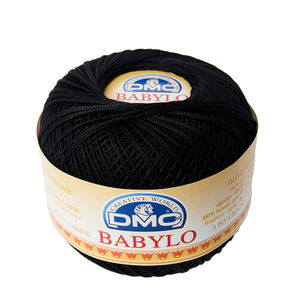 DMC Babylo 10 Crochet Cotton, 50g Ball, 310 Black