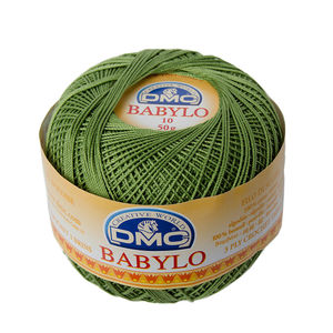 DMC Babylo 10 Crochet Cotton, 50g Ball, 3346 Green