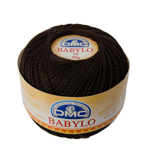 DMC Babylo 10 Crochet Cotton, 50g Ball, 3371 Dark Brown