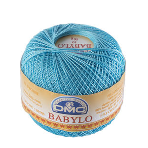 DMC Babylo 10 Crochet Cotton, 50g Ball, 3846 Blue