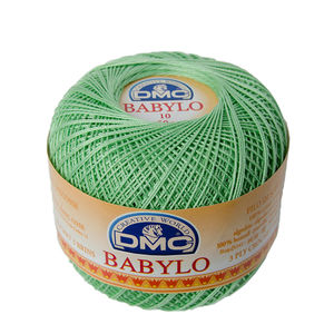 DMC Babylo 10 Crochet Cotton, 50g Ball, 508 Green