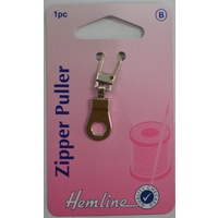 Hemline Zipper Puller, Silver Tone Ring Zip Puller Replacement, Instructions Included