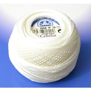 DMC Cebelia 10, #3865 Winter White, Combed Cotton Crochet Thread 50g