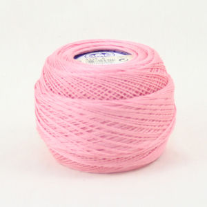 DMC Cebelia 10, #3326 Light Rose, Combed Cotton Crochet Thread 50g