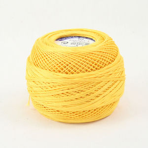 DMC Cebelia 10, #743 Medium Yellow, Combed Cotton Crochet Thread 50g