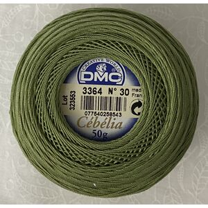 DMC Cebelia 30, #3364 Pine Green, Combed Cotton Crochet Thread 50g