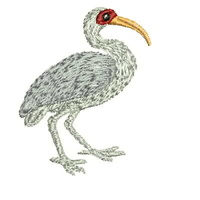 Machine Embroidery Design, Ibis 59 x 46mm, File 1book-ibis1