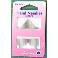 Hemline Hand Needles, Sharps Size 5-10, Packet of 20, Most Common Needles to Use