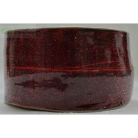 Curzon Velvet Metallic Ribbon 29mm RED Full 18 Yard Roll