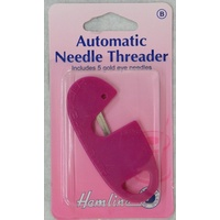 Hemline Automatic Needle Threader, Includes 5 Gold Eye Needles