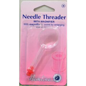 Needle Threader with Magnifier, Assists in Threading The Needle, By HEMLINE