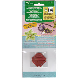 Clover Kanzashi Flower Maker, Pointed Petal, Extra Small Size 35mm, Make Flowers Quick & Easy