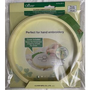 "Clover 18cm (7"") Embroidery Hoop #8812"