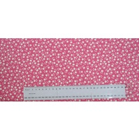 Cotton Fabric Per Metre, 110cm Wide, Tulips WHITE on PINK 365.07