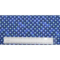 Cotton Fabric Per Metre, 110cm Wide, Anastasia BLUE #3840.49