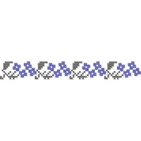 Machine Cross Stitch Border Embroidery Design (4-2bdr2), 20 x 162mm