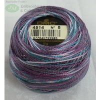 DMC Coloris Thread Perle Cotton No.8 Ball, #4514 VARIEGATED, 10g, 80m