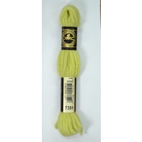 DMC Tapestry Wool, 8m SKEIN, #7351 VERY LIGHT GOLDEN YELLOW, Laine Colbert Wool